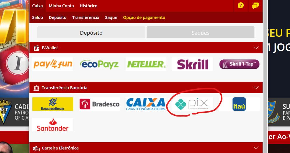 Sites de apostas que aceitam Pix Dafabet